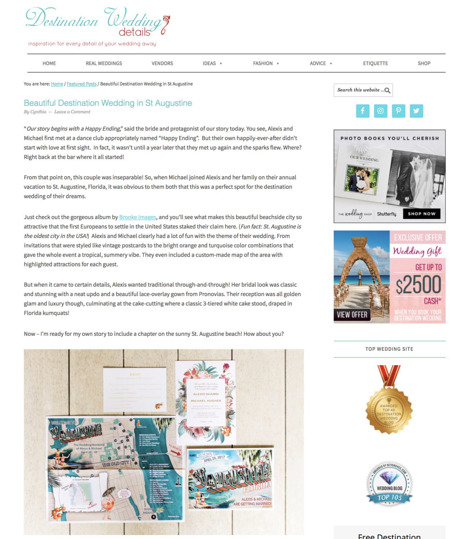 64c6734d98 Published   Destination Wedding Details   Alexis and Michael ...